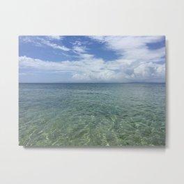 Blue Beach Vieques Metal Print