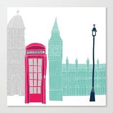 London Red Telephone Box (pink) Canvas Print