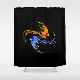 Phoenix Ice And Fire Shower Curtain