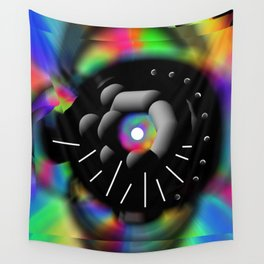 Circle and Rainbow Wall Tapestry