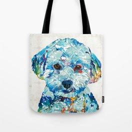 Small Dog Art - Soft Love - Sharon Cummings Tote Bag