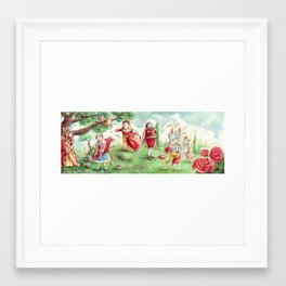 Alice's Adventures in Wonderland - The Croquet Scene | Off with her head! Framed Art Print