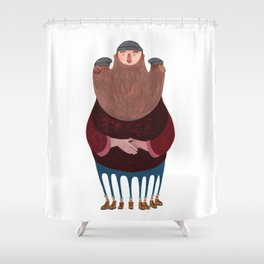 King Beardy Shower Curtain