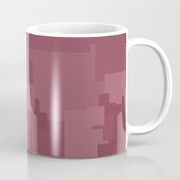 Crushed Berry Square Pixel Color Accent Coffee Mug