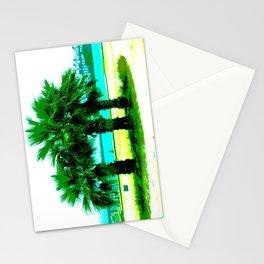 Tropical Tree Trio Stationery Cards