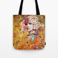 rose gold Tote Bags featuring Rose. Gold by Steve W Schwartz Art