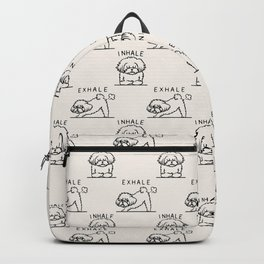Inhale Exhale Maltese Backpack