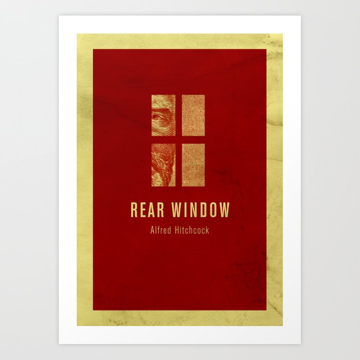 REAR WINDOW - Hitchcok Poster Art Print