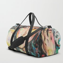 Model with flowers Duffle Bag