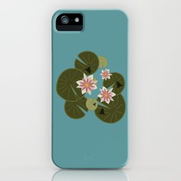 Waterlilies & Frogs iPhone Case