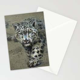 Snow leopard background Stationery Cards