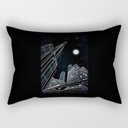 lines city architectural Rectangular Pillow