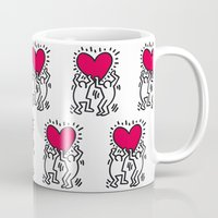 keith haring Mugs featuring Keith Allen Haring Shirt by cvrcak