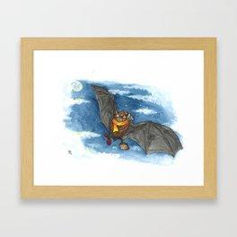 Little Worlds: Travel Bat Framed Art Print