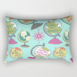 Globes, Living Our Adventure Rectangular Pillow