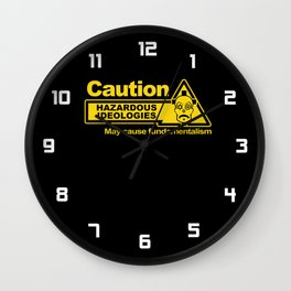 Hazardous Ideologies Wall Clock