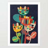 budi satria kwan Art Prints featuring Wild Flowers by Picomodi