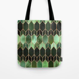 Stained Glass 5 - Forest Green Tote Bag