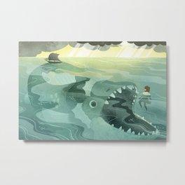 Jonah Tossed Overboard (by Melanie Matthews) Metal Print
