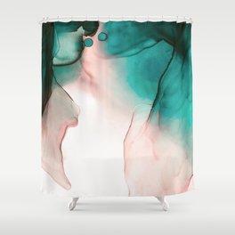 Joy watercolor Shower Curtain
