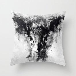small dik-dik antelope portrait wsbbw Throw Pillow