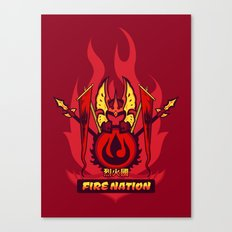 Avatar Nations Series - Fire Nation Canvas Print