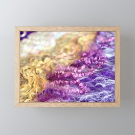 Flow II - Merino / Mohair Framed Mini Art Print