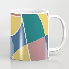 Abstract Basketball Court From Above Coffee Mug