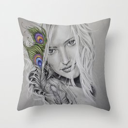 Series: Peacock Feather Throw Pillow