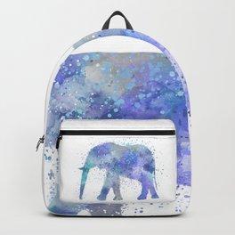 Blue Watercolor Elephant Backpack