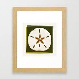 Sand Dollar - Earthy Palette Framed Art Print