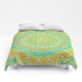 Citrus Burst - Mandala Art Comforters