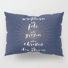 The Five Solas of the Reformation (alternative color) Pillow Sham