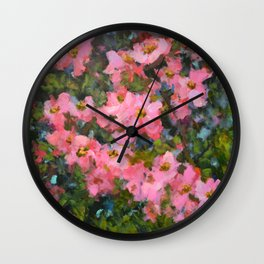 Spring Apple Blossoms Wall Clock