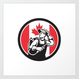 Canadian Welder Canada Flag Icon Art Print