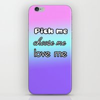 greys anatomy iPhone & iPod Skins featuring Pick me. Choose me. Love me. Greys Anatomy by QueenOfAwesome95