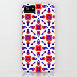 Red & Blue Geometric Pattern iPhone Case