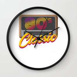 80's Classic Year Music Retro Fashion Trends Clothes Gift Wall Clock