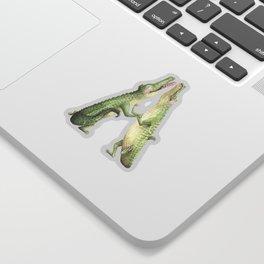 A is for Alligators - Baby Nursery Decor - Watercolor by Birdsflyover Sticker