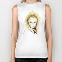 britney spears Biker Tanks featuring Britney Spears Scream & Shout by Eduardo Sanches Morelli