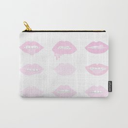 pink and nude lips Carry-All Pouch
