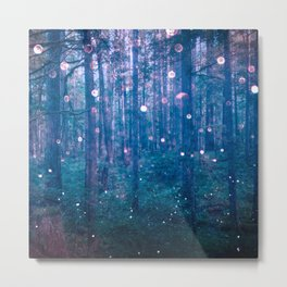 Fairy Lights Metal Print
