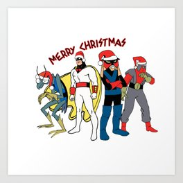 Space Ghost Coast to Coast Merry Christmas Happy Holidays Gift Art Print