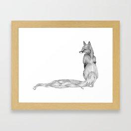 The Fox and The Hair Framed Art Print