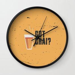 Funny Got Tea Chai Hindi Quote Wall Clock