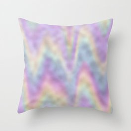 Holographic Iridescent Rainbow Chevron Foil Throw Pillow