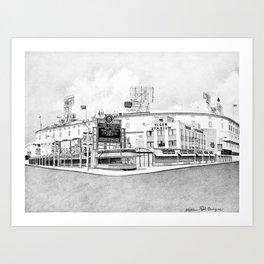 Old Tiger Stadium | Detroit Michigan Art Print