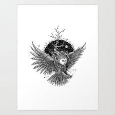 Owl of the Midnite Story Art Print