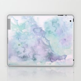 Pastel modern purple lavender hand painted watercolor wash Laptop & iPad Skin