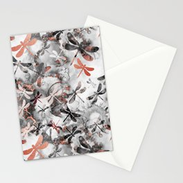 Dragonfly Lullaby in Marble and Rose Gold Stationery Cards